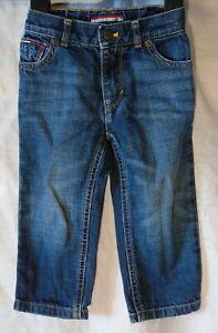 Baby Boys Tommy Hilfiger Blue Whiskered Vintage Denim Jeans Age 12-18 Months