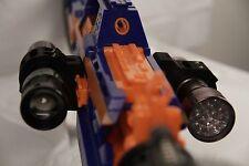 "3D Printed – Nerf to Flashlight/Laser 1 3/16"" ID Mount for Nerf Dart Gun Blaster"
