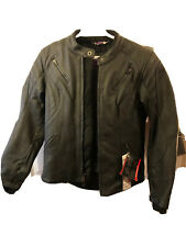 Women's Shift Leather Motorcycle Jacket Siren Black Size Small Protective Insert