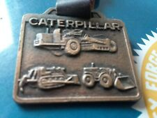 Vintage Advertising Watch Fab & Leather Strap Caterpillar Ohio Machinery Co.