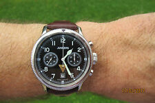 JJUNKERS MILITARY CHRONOGRAPH POLJOT 23 JEWELS P3133  SAPPHIRE 47MM V RARE FIND