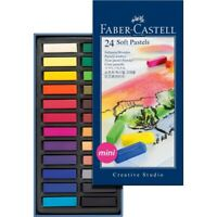 #128224 Faber Castell Box of 24 Mini Soft Pastel Crayons Studio Quality Artists
