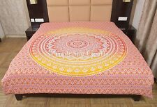 Indian Ombre Duvet Cover Ethnic Mandala Quilt Cover Hippie Cotton Blanket Cover