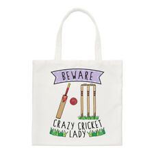 Beware Crazy Cricket Lady Regular Tote Bag Funny Sport