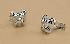 Alfred Dunhill cufflinks Bulldog head Silver plated Mens fashion jewelry NEW