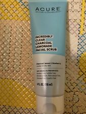 Acure Incredibly Clear Charcoal Lemonade Facial Scrub 4 Fl Oz