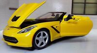 1:24 Scale Chevrolet Corvette Convertible 2014 Yellow Maisto Diecast Model Car