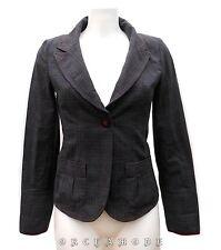 Veste CHATTAWAK Gris Noir T 36 S 1 100% coton Fête TBE Blazer Jacket Chaqueta