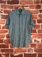 Robert Graham L 16 Gingham Plaid Check S/S Limited Label Luxury Dress Work Shirt