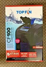 Top Fin 5 Stage Canister Filter 60-100 Gal Fresh & Salt Water Aquarium CF100 NEW