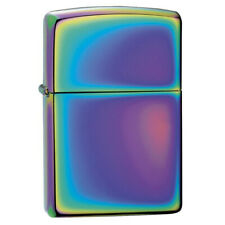 More details for classic chrome plated multi colour spectrum zippo windproof lighter