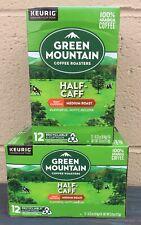 Green Mountain Coffee Keurig 24 k-cups HALF CAFF Med ROAST Arabica Exp 6/2021