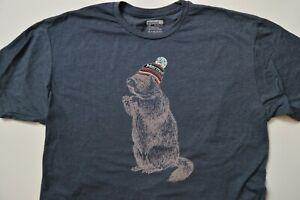 Brand New Men's L Marmot Gray Squirrel T-Shirt