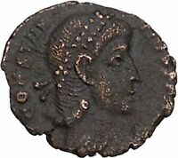 CONSTANTIUS II son of Constantine the Great Roman Coin Wreath of success i42880