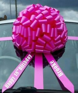 BIG CAR BOW, Mega Giant Extra Large Bow for Cars, Birthday Presents, Gifts
