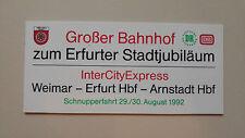 Zuglaufschild zum Erfurter - Stadtjubiläum (miniatur aus PVC)