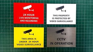 ENGRAVED 100mm X 70mm SECURITY/CCTV SIGNS