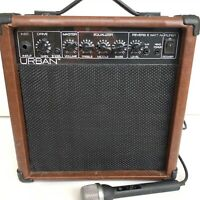 Keith Urban 15 Watt Guitar Amp With Reverb #R2692 Works Great Brown With Mic