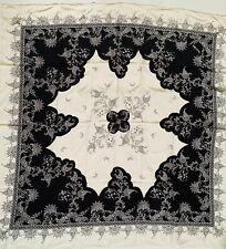 """diane von furstenberg silk scarf White /Black Square 42"""""""