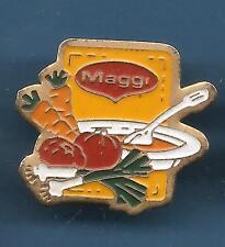 Pin's pin MAGGI SOUPE CAROTTE TOMATE POIREAU  (ref 037C)