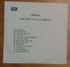POISON Look What The Cat Dragged In  13 track  PROMO CD ALBUM