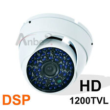 1200TVL CCTV 48IR Vandalproof Dome Waterproof Camera Good Night Vision B/W White