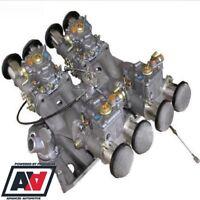 Rover V8 4 x Weber 45DCOE Crossram Carb And Manifold Full Kit Webcon UK ADV
