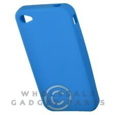 Apple iPhone 4/i4S Rubber Skin Case Light Blue Case Cover Shell Shield