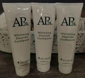 Lot of 3 Tubes - Nu skin NUSKIN AP 24 WhiteningFluoride Toothpaste Exp 06/2022
