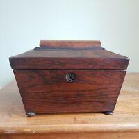19th Century English Regency Mahogany Tea Caddy