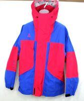 Nike ACG GORE-TEX Men's SM Hooded Jacket Blue Red Full Zip Coat Rainwear NWT