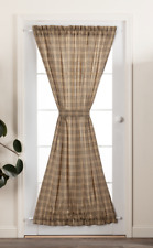 SAWYER MILL Charcoal Plaid Door Panel Country Farmhouse Lined 72x42 VHC Brands