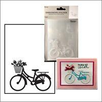 Bike embossing folder - Darice embossing folders 30032598 summer transporation