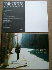 More details for the verve, lucky man, a5 size promo postcard / sticker, mint