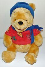 """Winnie the Pooh 12"""" Plush Autumn Pooh NWT Disney Store Exclusive"""