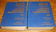 1994-1997 MOTOR Auto Engine Performance & Driveability Manual Vol 1 2 Set Chevy