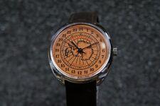 Mechanical watch RAKETA ANTARCTICA 24-HOUR. New. Orange dial. 39mm case
