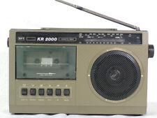 Radio-Kassettenrecorder KR 2000, gebraucht, DDR-Vintage, alle Riemen neu,