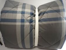 Pottery Barn Teen Xander Plaid Comforter Full/Queen Charcoal #4785