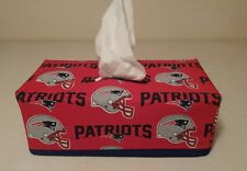 NFL New England Patriots Tissue Box Cover (rectangle) Handmade
