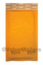 "1000 #000 4x8 "" Bubble - Lite "" Kraft Bubble Mailers Padded Envelopes Bags"