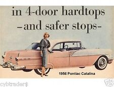 1956 Pontiac Catalina 4 Door Fridge Magnet