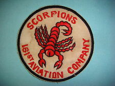 "VIETNAM WAR PATCH, US 161st AVIATION COMPANY "" SCORPIONS """