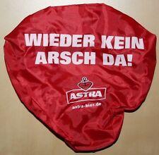 """Astra Bier Sattelbezug Fahrradsitz Hülle """"WIEDER KEIN ARSCH DA!"""" NEU"""