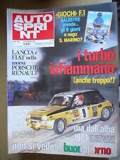 Autosprint 6 1981 Foto poster Ligier - Laffitte Jabouil