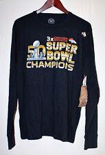 Denver Broncos 47 Brand Long Sleeve T-Shirt Men's Navy Blue Size L
