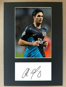 Mikel Arteta Hand Signed A4 Display Arsenal Everton Man City Spain Autograph EPL
