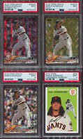 Lot of 4 - 2018 Topps DERECK RODRIGUEZ - PSA 9 Rookie RC Update Gold Rainbow TBT