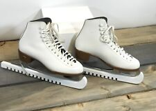 Vintage Womans Riedell Boot Sz 5 Figure Ice Skates