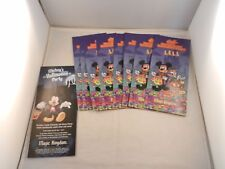 """2017 MICKEY'S NOT SO SCARY HALLOWEEN PARTY MAPS - 9 PLUS FLYER """"NEW"""""""
